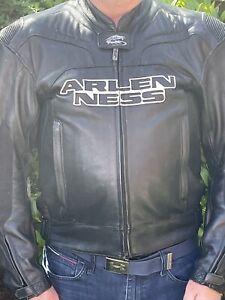 Arlen Ness Two Piece Leather Suit, Size Jacket 48 Pants 34