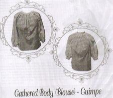 Civil War Girl's  GATHERED BODY BLOUSE GUIMPE Pattern Timeless Stitches TSB-161