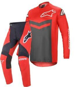 2021 Alpinestars FLUID SPEED Bright Red Anthracite Motocross Race Kit Gear Adult
