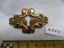 1 entrée de clé serrure en laiton style Henri II H : 40 mm (réf AC64)