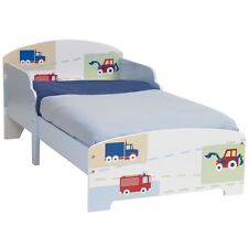 GENERIC BOYS VEHICLE PATTERN TODDLER BED SUITABLE FOR AGES 18 MONTHS + FREE P+P