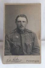Militaria Cabinet Foto Portrait Soldat Orden um 1900  Podersam