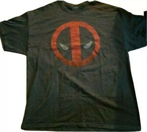 NWOT Marvel Comics Deadpool Distressed Logo Gray t-shirt Men's Size 2XL