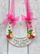 Hot Pink Wedding Horseshoe PERSONALISED
