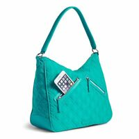 Turquoise Sea Blue Green Purse Hobo Crossbody Shoulder Bag Vera Bradley NWOT