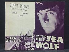 1930 movie herald: SEA WOLF [Jack London's greatest story] all 'talkie' @ sea!!!