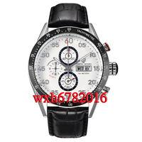 44mm PAGANI design white dial date full chronograph week quartz mens WATCH N046