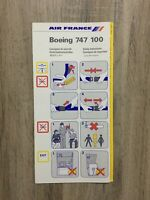 Safety Card AIR FRANCE BOEING 747-100