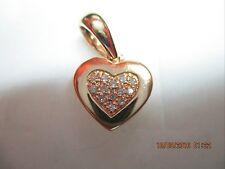 Yellow Gold (750) Heart shape Diamond (0.10CTS) Pendant 1.5x1.2cm