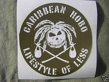 Coconut head Caribbean Hobo sticker decal  Key West  Parrot islands beach coast