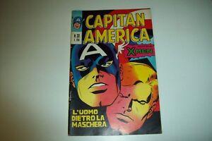 CAPITAN AMERICA N.30 5 GIUGNO 1974-UOMO DIETRO LA MASCHERA;CONTIENE X-MEN-CORNO