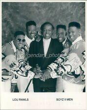 1990s R and B Group Boyz II Men with Lou Rawls Original News Service Photo