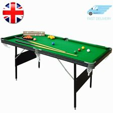 6ft Folding Snooker Pool Table Mightymast Leisure CRUCIBLE 2-IN-1 Green Fold Up