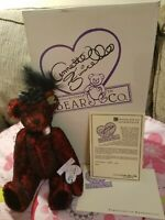 Ooak artist mohair bear 12 Inches perfect condition never removed from box!