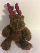 "Reindeer bath and body works Christmas 10"" brown stuffed plush red plaid antlers"