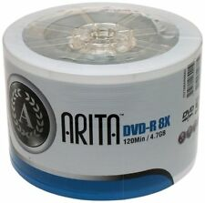 100 Arita Green DVD-R 8x Blank DVD Discs 4.7 GB Ritek G05 120 mins NON printable