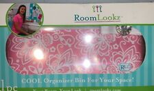 Room Lookz Organizer Bin Pink & White Beauty Make-up School Supplies Office