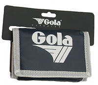 MENS / BOYS GOLA CLASSIC NYLON WALLET WITH ZIP COIN POCKET - NAVY / WHITE