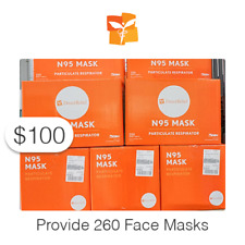 $100 Charitable Donation For: 260 Face Masks