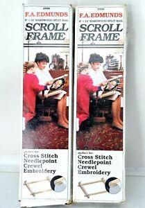 "Set of 2 - F. A. Edmunds 6""x12"" Hardwood Split Rail SCROLL FRAME #2996"