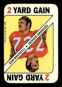SAM BRUNELLI  1971 TOPPS GAME INSERTS CARD 1971 NO 18 EX+ 22803