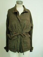 MICHAEL STARS Women's MILITARY PARKA Jacket LODEN Green Sm Tencel Twill NWT $198