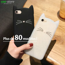 3D Chat barbe Silicone Gel Coque Etui Housse pour Smartphone