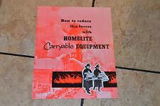 Advertising  Ephemera Firemen Homelite Carryable Equipment