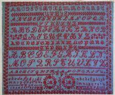 Classico Francese Antico Alfabeto campionatore Cross Stitch Pattern grafico mm 1900