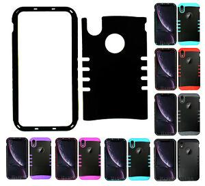 For Apple iPhone XR - KoolKase Armor Hybrid Slicone Cover Case - Black (R)