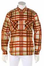 BURBERRY Casual-Hemd mit -Muster aus Baumwolle mit Logo-Knöpfen L Freizeithemd