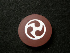 New listing Chocolate Brown Illegal Casino Antique Roulette Poker Chip Gambling Gaming