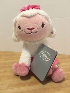 """Disney Jr. Doc McStuffins Lambie 7"""" Plush - Authentic Disney Store Item - NWT"""