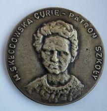 CURIE SKLODOWSKA NOBEL PRIZE ANTI-CANCER POLON RAD medal