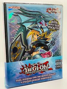 YUGIOH!! Dark Magician Girl the Dragon Knight 9-Pocket Portfolio! 180 Karten Neu
