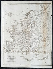 1798 Aaron Arrowsmith Antique Map of Europe