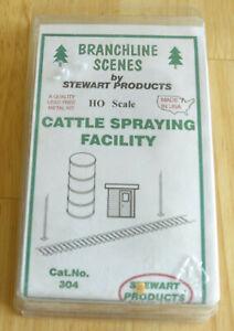 Stewart HO Scale #304 Branchline Cattle Spraying Facility (Kit)