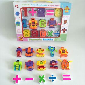 10PCS DIY Deformation Digital Math Letters Numeric Robot Numbers Transformer Toy