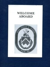 Ffg 32 Uss John L Hall Welcome Aboard Booklet Us Navy Ship Squadron Pamphlet