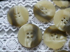 "48 Beige Blonde Taupe horn effect buttons 4 hole sew on 22mm 36L 7/8"" bulk coat"