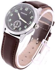 WW2 German Army Service Watch or Dienstuhr replica military watch.  BROWN Strap.
