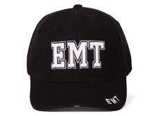 EMT Block Font Black Adjustable Hat
