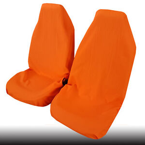 New Throw Over Slip On Car Seat Covers Polyester Car Interior Accessories Orange