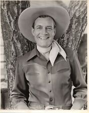 CHARLES STARRETT 1940S SMILING PORTAIT OF THE COWBOY 11X14  DELUXE 10X14 L2246