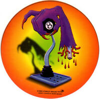 ZOMBIE 8 BALL SHIFTER STANLEY MOUSE HOT ROD RAT ROD LOW BROW ART DECAL STICKER