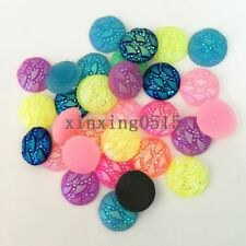 40pcs MIX Resin AB round Rhinestone/Flat Back Appliques Scrapbooking for phone