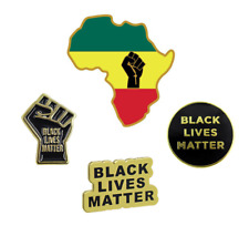 Black Lives Matter Enamel Lapel Pins by PGBS (1 Piece)