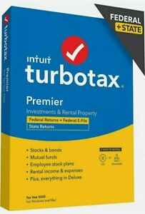 TurboTax Premier 2020 Desktop Tax Software, Federal and State Returns PC DISC