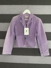 🌈One Teaspoon Aussie Lilac Purple Cord Distresses Vintage Blazer Jacket Sz 8 🌈