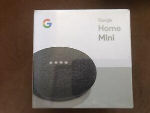 NIB Google Home Mini Charcoal New Sealed Box GA00216-US Wireless Smart Speaker